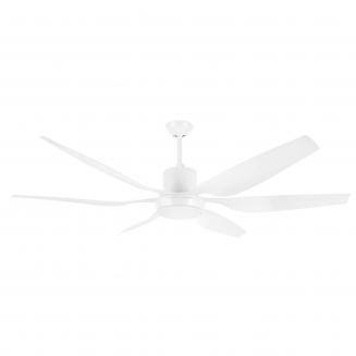 Aviator 66″ White DC Ceiling Fan with interchangeable Light Kit