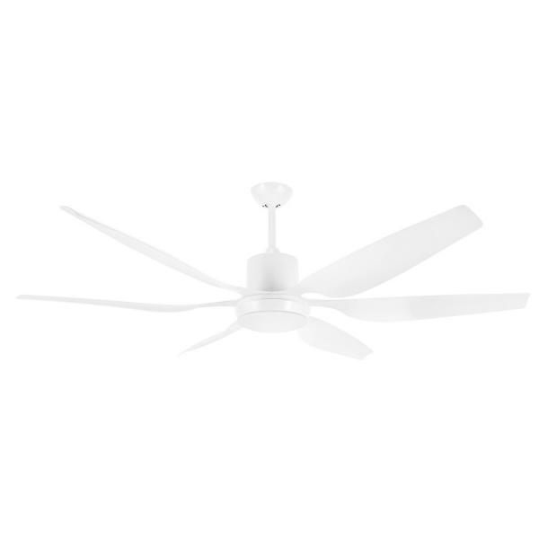 "Aviator 66"" White DC Ceiling Fan with interchangeable Light Kit -"