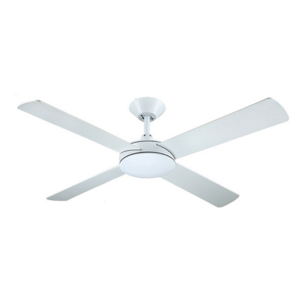 Hunter Pacific Intercept II White Ceiling Fan without Light -
