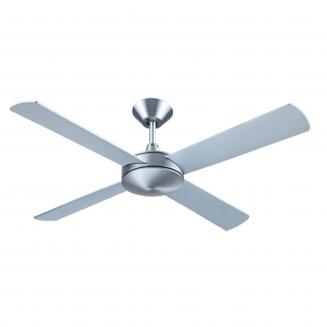 Hunter Pacific Intercept II Brushed Aluminium Ceiling Fan without Light