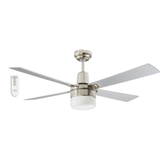 Martec Four Seasons Alpha Silver Ceiling Fan with Clipper Light and Remote