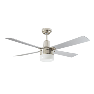 Martec Four Seasons Alpha Silver Ceiling Fan with Clipper Light