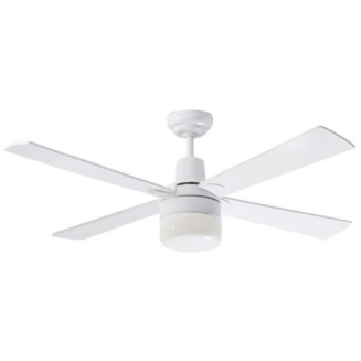 Martec Four Seasons Alpha White Ceiling Fan with Clipper Light