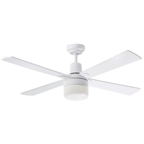 Martec Four Seasons Alpha White Ceiling Fan with Clipper Light -