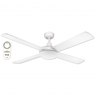 "Martec Lifestyle ""DC"" White Ceiling Fan with 24W LED Tri-Colour Light and Remote"