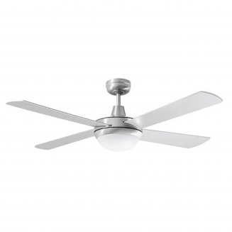 "Martec Lifestyle ""AC"" Brushed Aluminium Ceiling Fan with 24W LED Tri-Colour Light"