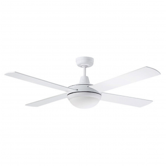 "Martec Lifestyle ""AC"" White Ceiling Fan with 24W LED Tri-Colour Light"