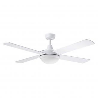 Martec Lifestyle AC White Ceiling Fan with 24W LED Tri-Colour Light