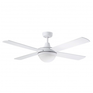 Martec Lifestyle White Ceiling Fan with Twin E27 Light