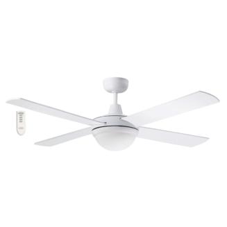 Martec Four Seasons Primo White Ceiling Fan with Twin E27 Light and Remote