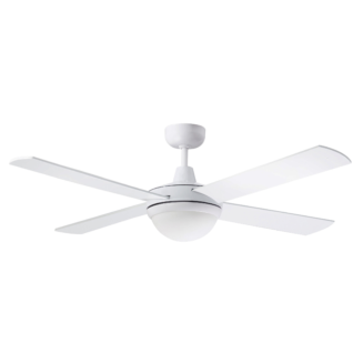 Martec Four Seasons Primo White Ceiling Fan with Twin E27 Light