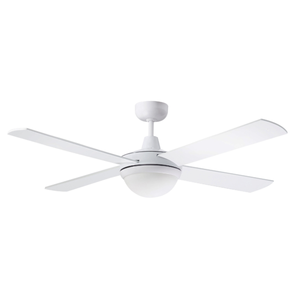 Martec Four Seasons Primo White Ceiling Fan with Twin E27 Light -
