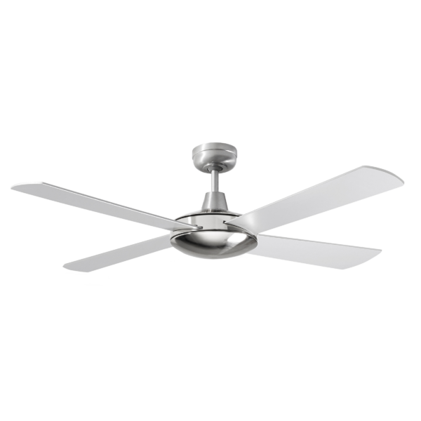 Martec Four Seasons Primo Silver Ceiling Fan without Light -