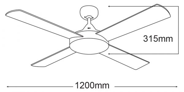 Ceiling Fan White Finish -