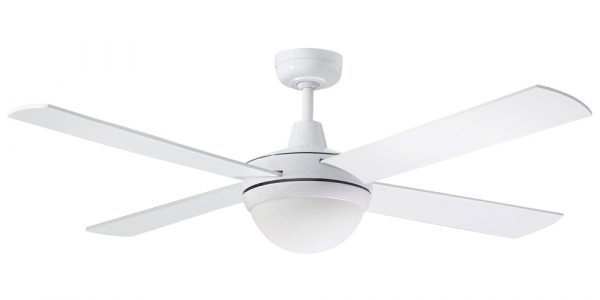 Ceiling Fan White Diecast Aluminium Body with Light 2 x E27 -