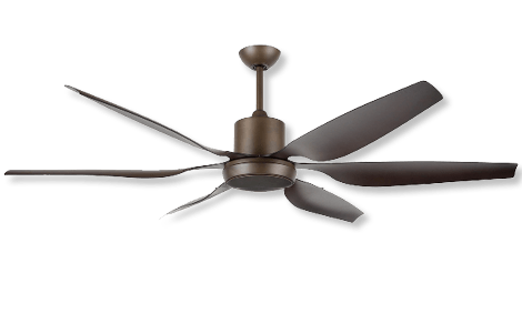 66″ high performance ceiling fan in oil rubbed bronze color