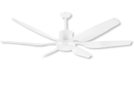 66″ high performance ceiling fan in white color