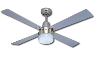 Ceiling Fan Silver Finish with Light
