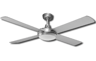 Ceiling Fan Silver Finish with 24W LED Light