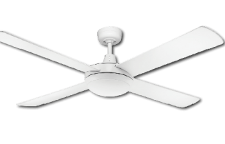 "Ceiling Fan White Finish ""AC"" Model with LED Light"