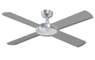Ceiling Fan Silver Finish