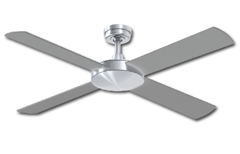 Ceiling Fan Silver Finish -