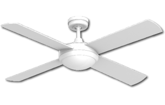 Ceiling Fan White Finish with Light