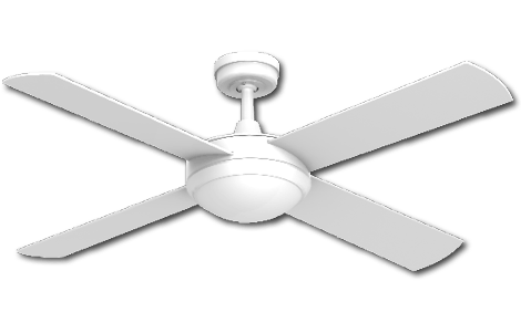 Ceiling Fan White Finish with Light -