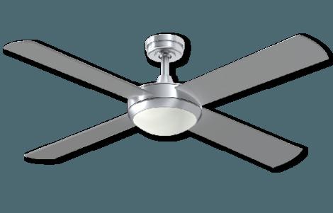 Ceiling Fan Silver with Light -