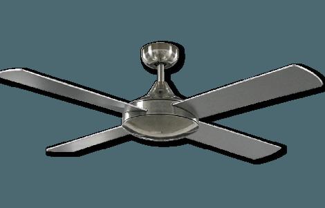 silver finish fan