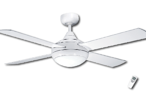 Ceiling Fan White Finish Light & Remote -