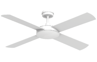 Ceiling Fan White Diecast Aluminium Body