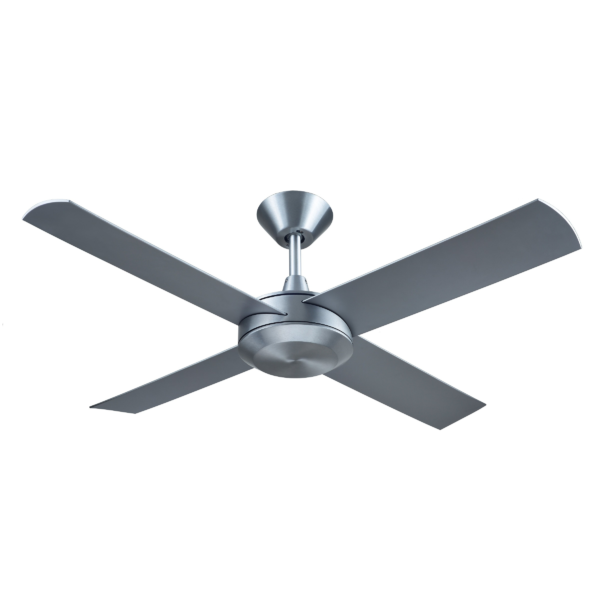 Hunter Pacific Concept 3 Brushed Aluminium Ceiling Fan without Light -