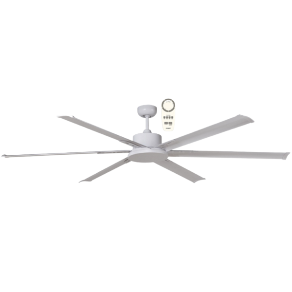 Albatross DC Ceiling Fan in White with Remote Control -