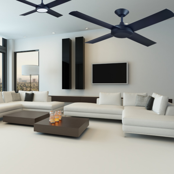 Hunter Pacific Concept 3 Matt Black Ceiling Fan without Light -