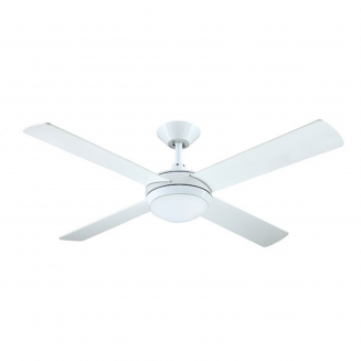 Hunter Pacific Intercept II White Ceiling Fan with Twin E27 Light
