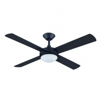 Hunter Pacific Intercept II Matt Black Ceiling Fan with 24W LED Tri Colour Light
