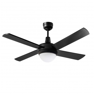 "Martec Lifestyle ""AC"" Matt Black Ceiling Fan with 24W LED Tri-Colour Light"