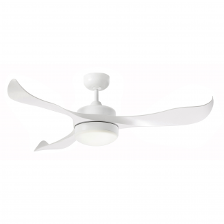 Martec Scorpion DC Range White Ceiling Fan with 20w LED Tri Colour Light