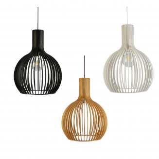 Guarin Timber Veneer Round Pendant Light