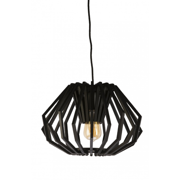 Ragusa Black Timber Small Pendant Light -