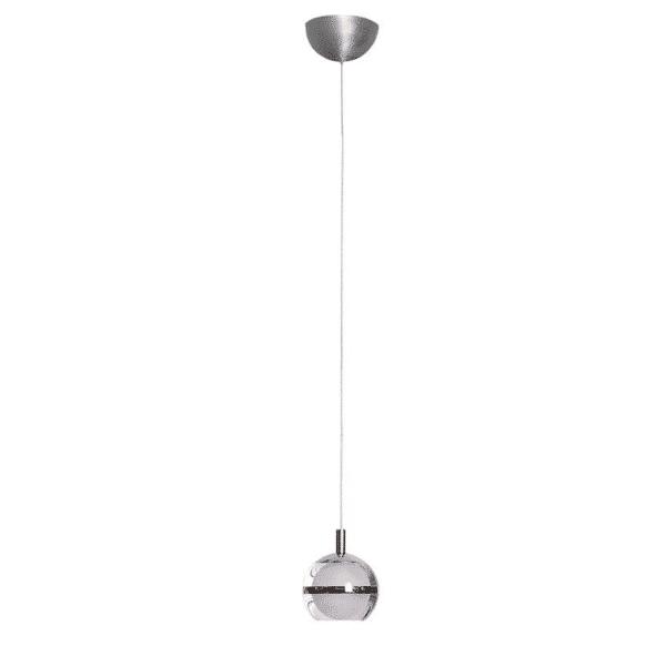 POD LED 1 Light Chrome Pendant -