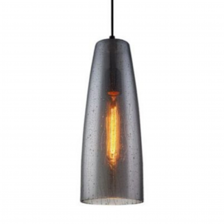 CHUVA1 Smoke Black Glass Pendant Light