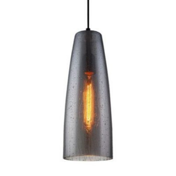 CHUVA1 Smoke Black Glass Pendant Light -
