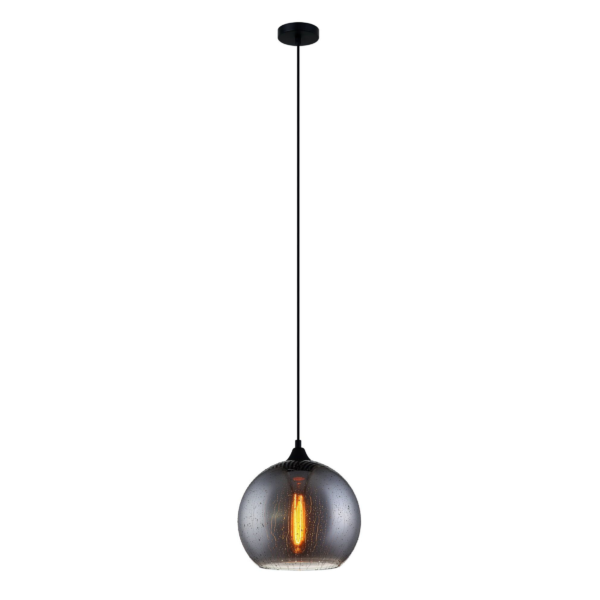 CHUVA2 Smoke Black Glass Pendant Light -