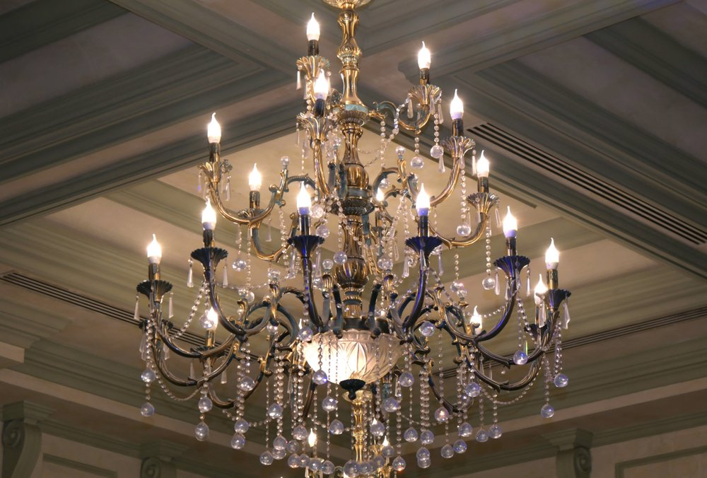 Glass chandeliers -