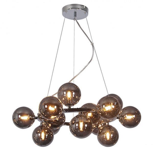 Midnight Small Round Smoke Pendant Light -