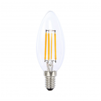 LED 4W E14 Candle Clear Dimmable Cool White Globe