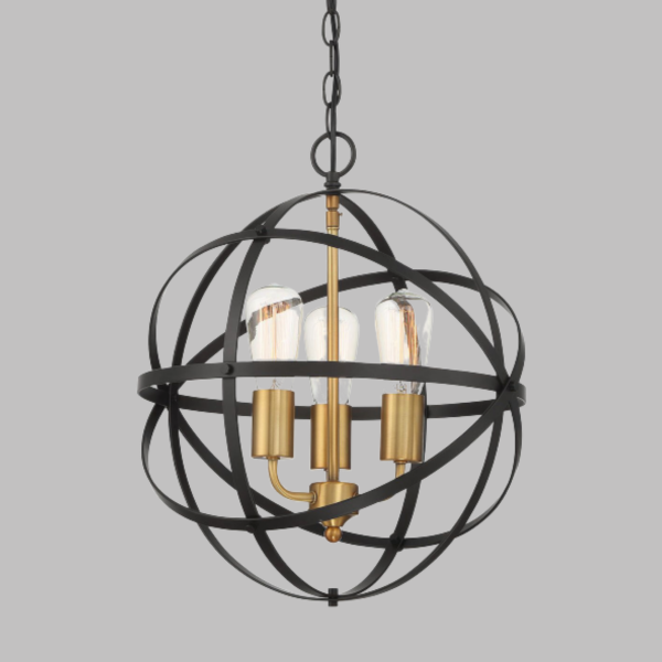 Apollo 3 Light Sphere Candelabra Chandelier -