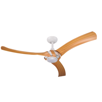 Aeroforce 2 White Finish Ceiling Fan with Bamboo Polymer Blades